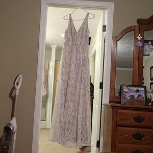 White LuLus Lace Maxi Dress